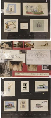 Lot 1092 - Norman H G Outhwaite (20th/21st century) ''Colour Sketches from Switzerland'' Five gouache sketches