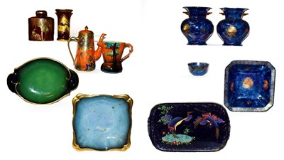 Lot 2 - Two trays of Carlton ware, Maling and Rosental pottery to include, a Swallows vase, 15cm...