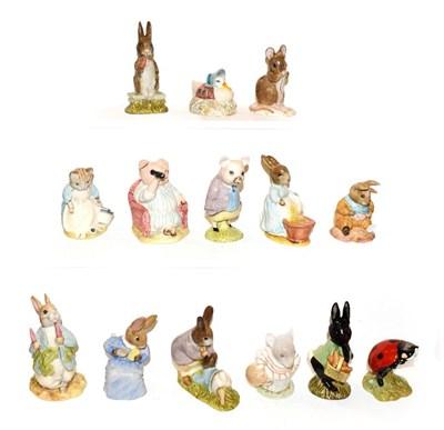Lot 38 - Fourteen Royal Albert Beatrix Potter figures (boxed) Cecily Parsley, Little Black Rabbit,...