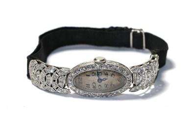 Lot 66 - A lady's diamond cocktail watch