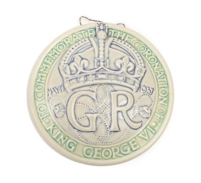Lot 2020 - A Pilkington's Royal Lancastrian Circular Wall Plaque, designed by William S Mycock, entitled...