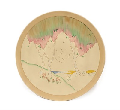 Lot 2024 - A Clarice Cliff Taormina Circular Wall Plaque, printed marks, 45cm diameter See illustration...