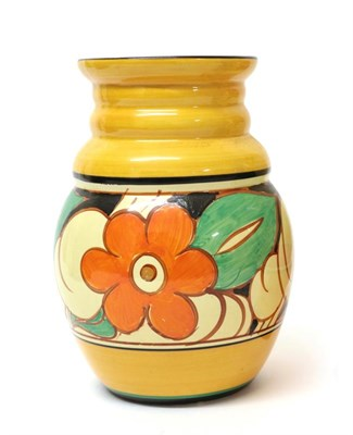 Lot 2026 - Clarice Cliff (1899-1972): A Fantasque Bizarre Floreat (Wild Rose) 358 Vase, painted with...