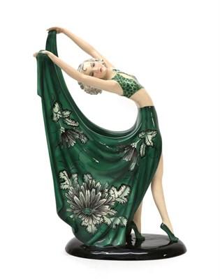 Lot 2036 - Stefan Dakon (1904-1992) for Goldscheider, An Austrian Art Deco Pottery Figure of a Dancer,...