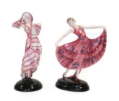 Lot 2037 - Stefan Dakon (1904-1992) for Goldscheider, The Waltz An Art Deco Pottery Figure of a Dancer,...