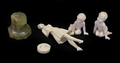 Lot 2055 - Johann Philipp Ferdinand Preiss (German 1882-1943): Admire, An Ivory Figure, modelled as a...