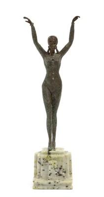 Lot 2056 - Johannes Gottfried Gotz (German, 1865-1934): A Patinated Bronze Figure, modelled as a starfish...