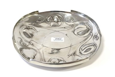 Lot 2062 - Archibald Knox (1864-1933) for Liberty & Co: ''The Bollellin'' Tudric Pewter Tray, Model...