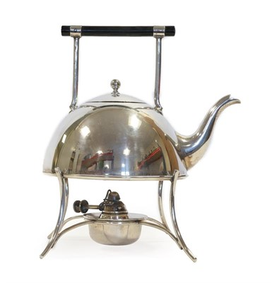 Lot 2079 - An Electroplated Kettle on Stand, George Wish of Sheffield, in the style of Christopher...