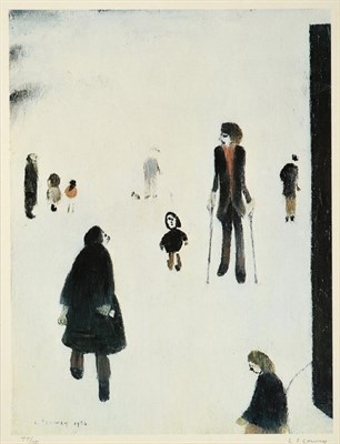 Lot 1002 - After Laurence Stephen Lowry RBA, RA (1887-1976) ''Figures in the Park'' Signed and numbered...