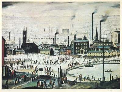 Lot 1003 - After Laurence Stephen Lowry RBA, RA (1887-1976) ''An Industrial Town'' Signed and numbered...