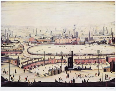 Lot 1004 - After Laurence Stephen Lowry RBA, RA (1887-1976) ''The Pond'' Signed, with the blindstamp for...