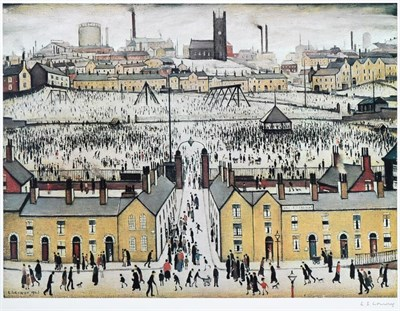 Lot 1005 - After Laurence Stephen Lowry RBA, RA (1887-1976) ''Britain at Play'' Signed, with the...