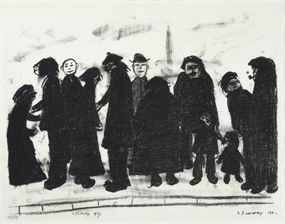 Lot 1007 - After Laurence Stephen Lowry RBA, RA (1887-1976) ''Shapes and Sizes'' Signed and dated 1967,...