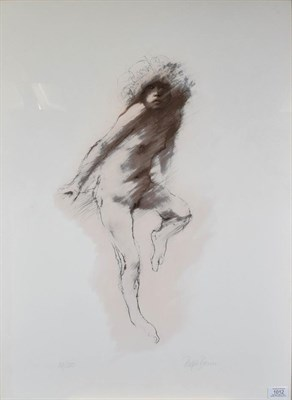 Lot 1012 - Ralph Brown RA (1928-2013) ''Midnight Girl'' Signed and numbered 38/200, lithograph, 75cm by 55cm