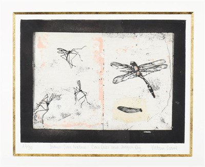 Lot 1015 - Victoria Crowe OBE, FRSE, RSA, RSW (B.1945) Scottish ''Drawn from Nature:- Crane Flies and...