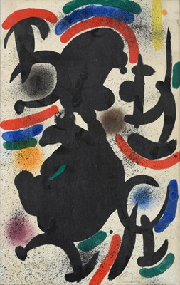 Lot 1016 - After Joan Miró (1893-1983) Spanish Lithograph VII, 1972 Signed and inscribed EA, lithograph,...