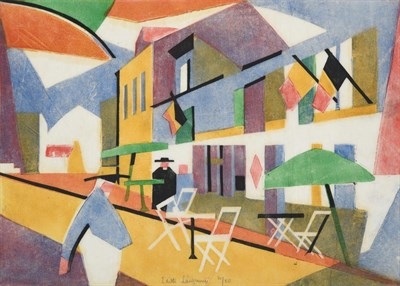 Lot 1020 - Edith Lawrence (1890-1973) ''France'' Signed, inscribed and numbered 21/50, linocut, 26.5cm by 35cm