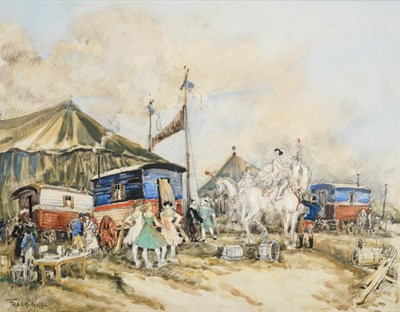 Lot 1026 - Frank Will (1900-1951) French ''Le Cirque'' Signed, pencil and watercolour, 32cm by 41cm...