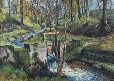 Lot 1036 - James McIntosh Patrick OBE, RSA (1907-1998) Scottish ''Old Sluice Ashley Halliburton'' Signed,...