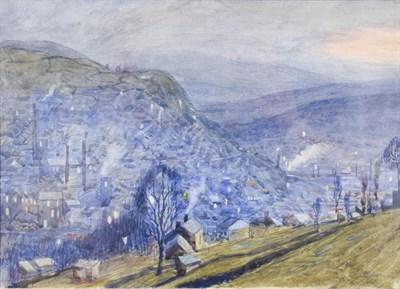 Lot 1038 - Frederick (Fred) Cecil Jones RBA (1891-1966) ''Hebden Bridge'' Signed, watercolour, 16cm by...
