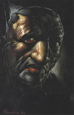 Lot 1042 - Peter Howson OBE (b.1958) Scottish Head and shoulders portrait of a man Signed and dated...