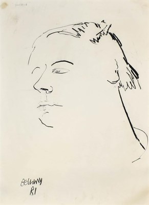 Lot 1043 - John Bellany (1942-2013) Scottish Portrait of Paul Wood Signed, inscribed and dated (19)81,...