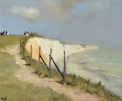 Lot 1047 - Marcel Dyf (1899-1985) French ''Falaises de Douvres'',  The White Cliffs of Dover Signed, oil...