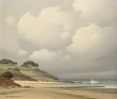 Lot 1048 - Pierre de Clausade (1910-1976) French  ''Côte Bretonne'' Signed, inscribed verso, oil on...