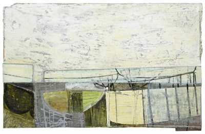 Lot 1056 - Peter Joyce (b.1964) ''Sea Defence and Slipway'' Initialled and dated (20)07, inscribed verso,...