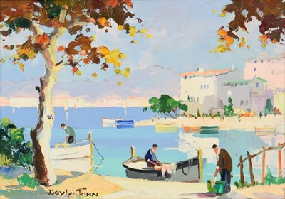 Lot 1057 - Cecil Rochfort D'Oyly John (1906-1993) ''Cannes, Near Summer Casino, South of France'' Signed,...