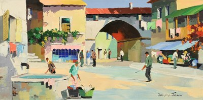 Lot 1058 - Cecil Rochfort D'Oyly John (1906-1993) ''Mougins Hill Village, near Cannes'' Signed, inscribed...