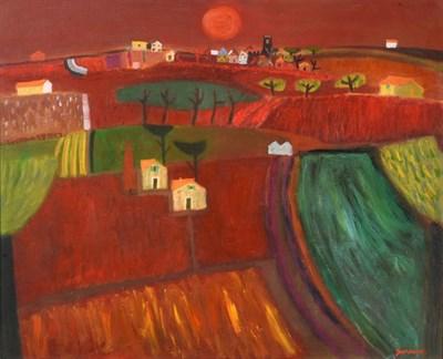 Lot 1059 - Alan Furneaux (b.1953) Tuscan landscape Signed, oil on canvas, 64cm by 79cm  Artist's Resale...