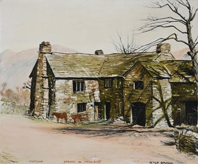 Lot 1067 - Peter Brook RBA (1927-2009) ''Troutbeck, Spring in England'' Signed and inscribed, oil on...