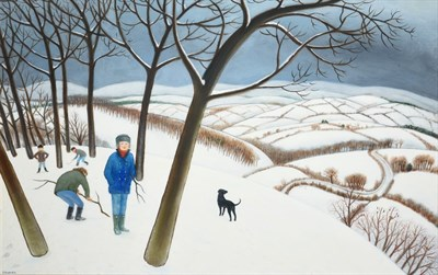 Lot 1074 - Jonathan Armigel Wade (b.1960)  ''Kindling'' Signed, inscribed verso, oil on board, 60cm by...