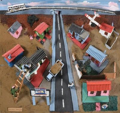Lot 1080 - Jackson Nkumanda (b.1948) South African Daily life, township Signed, mixed media 3D model on board