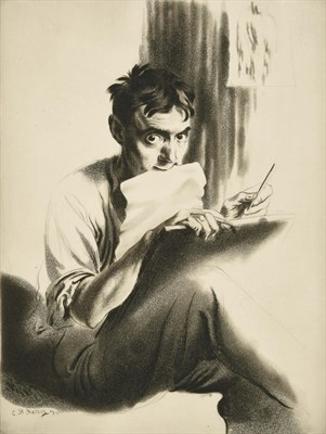 Lot 2 - Edward Hill Lacey (1892-1967) ''The Drypointer'' (1930) Signed and inscribed in pencil to...