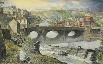Lot 8 - Frederick (Fred) Cecil Jones RBA (1891-1966) ''In the Lower Calder Valley'' Inscribed verso...