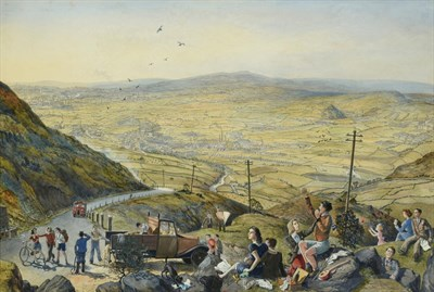 Lot 12 - Frederick (Fred) Cecil Jones RBA (1891-1966) ''Above Rochdale'' Signed and inscribed (partially...
