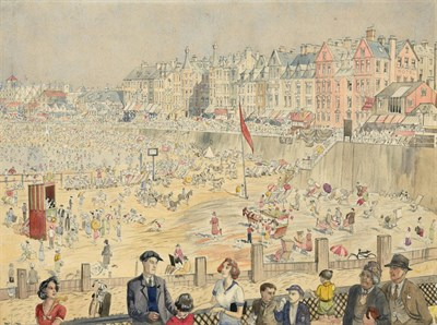 Lot 13 - Frederick (Fred) Cecil Jones RBA (1891-1966) ''Morecambe, Lancashire'' Signed, inscribed and...