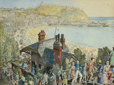 Lot 15 - Frederick (Fred) Cecil Jones RBA (1891-1966) ''Scarborough'' Signed, inscribed and dated 1950,...