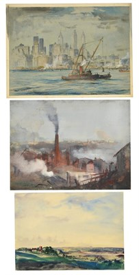 Lot 16 - Cecil Arthur Hunt, VPRWS RBA (1873-1965) ''Smoke'' Signed, inscribed with the title and ''somewhere
