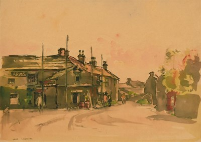 Lot 20 - Frederick (Fred) Lawson (1888-1968)  Kings Arms Redmire Signed, ink and watercolour, together...