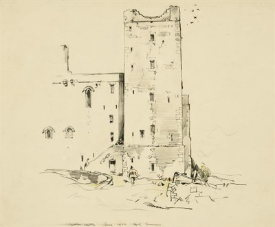 Lot 21 - Frederick (Fred) Lawson (1888-1968)  ''Bolton Castle'' Signed, inscribed and dated June 1936,...