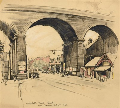 Lot 22 - Frederick (Fred) Lawson (1888-1968)  ''Kirkstall Road, Leeds'' Signed, inscribed and dated Oct...