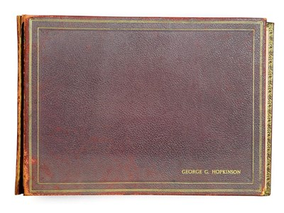 Lot 24 - Frederick (Fred) Lawson (1888-1968)  A red leather-bound sketchbook containing 19 works on paper to