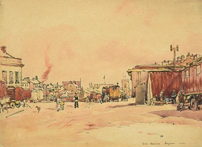Lot 29 - Frederick (Fred) Lawson (1888-1968)  ''Leyburn'' Market Place Signed, inscribed and dated 1934, ink
