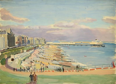 Lot 38 - Valerie Sozonov (1899-1960) British/Russian ''Eastbourne'' Signed and dated 1933, inscribed...