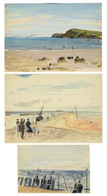 Lot 39 - Valerie Sozonov (1899-1960) British/Russian ''Petit Fort Philippe, France'' Signed and dated...