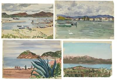Lot 40 - Valerie Sozonov (1899-1960) British/Russian ''Vigo, Spain'' Signed, inscribed verso, pencil and...